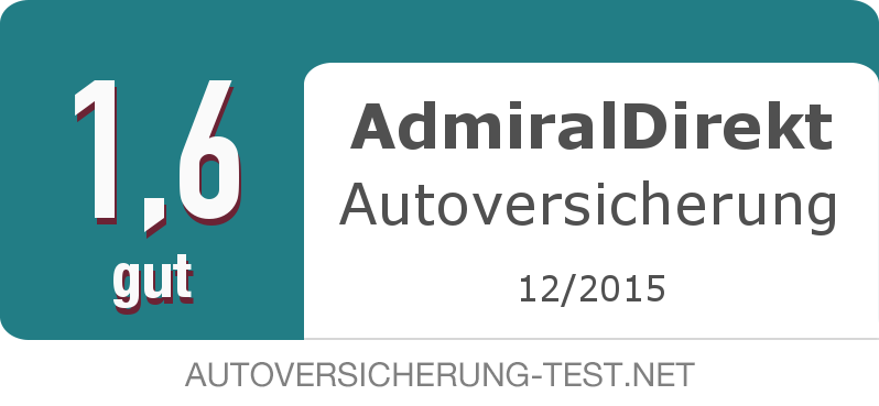 Testsiegel: AdmiralDirekt Autoversicherung width=