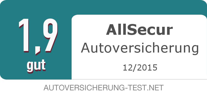 Testsiegel: AllSecur Autoversicherung width=