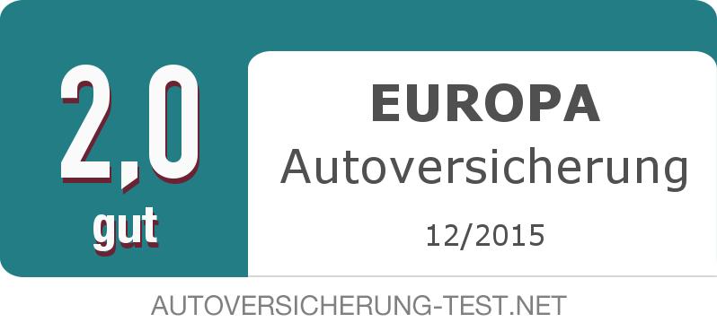 Testsiegel: EUROPA Autoversicherung width=